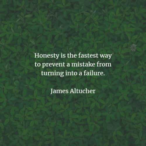 Honesty quotes and sayings by famous authors