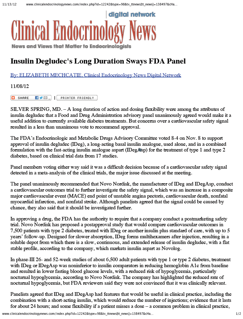 TRESIBA (deglodec) THE INSULIN THAT KEEPS ON GIVING AND