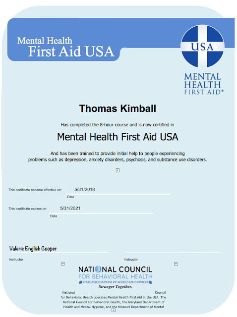 Thomas Quick Kimball Wa8uns Blog Mental Health First Aid Usa Training