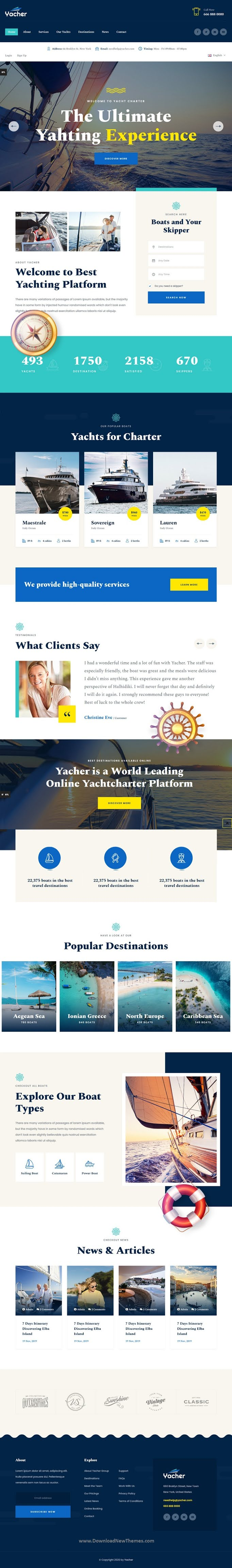 Yacht Charter Services HTML Template