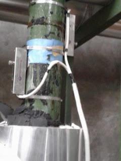 Instalasi Flow meter ultrasonic clamp on untuk air dingin mesin chiller