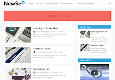 new Seo 2020 Premium blogger theme