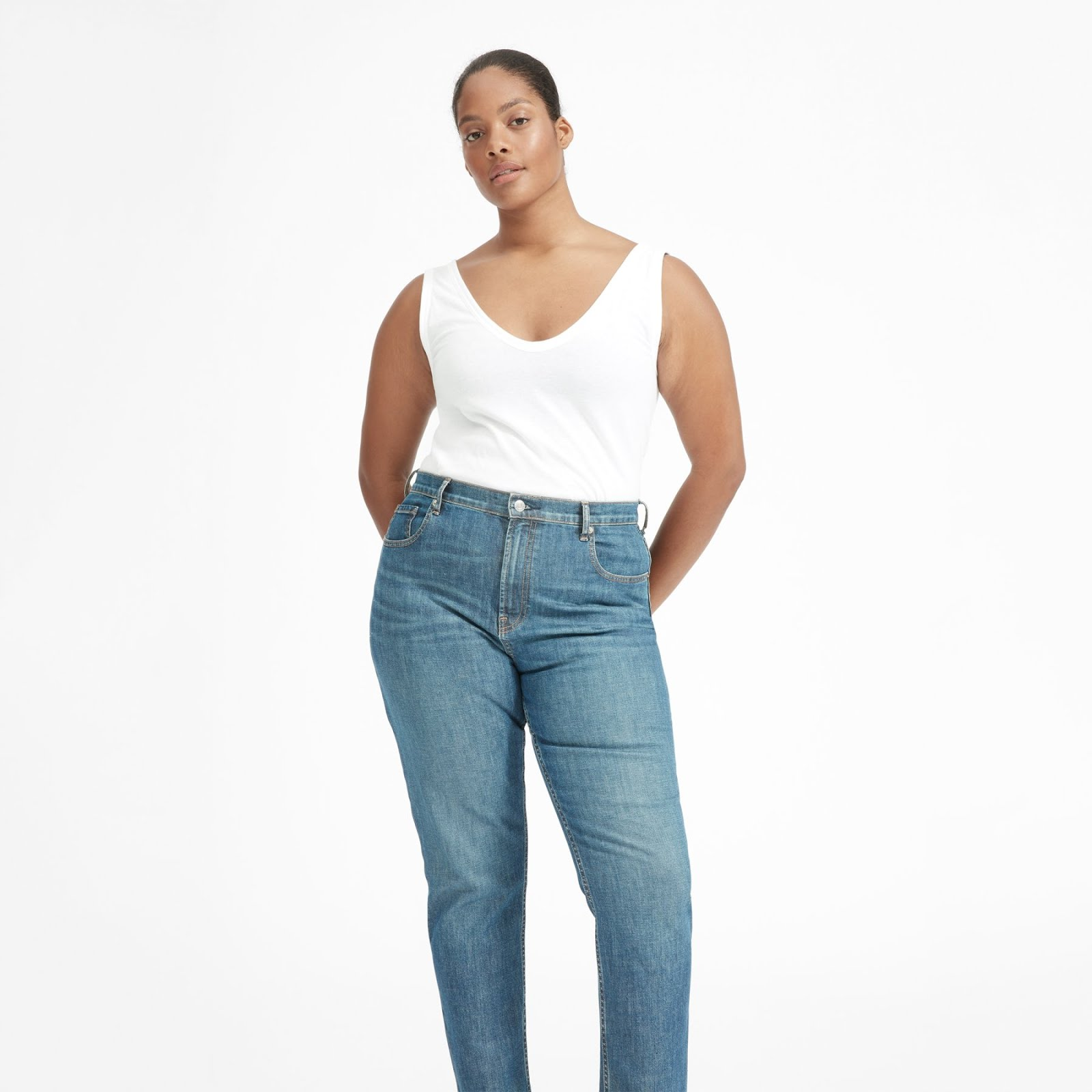 Everlane The Cotton Double V Tank