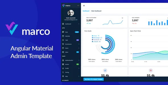 Best Angular 10+ Material Design Template