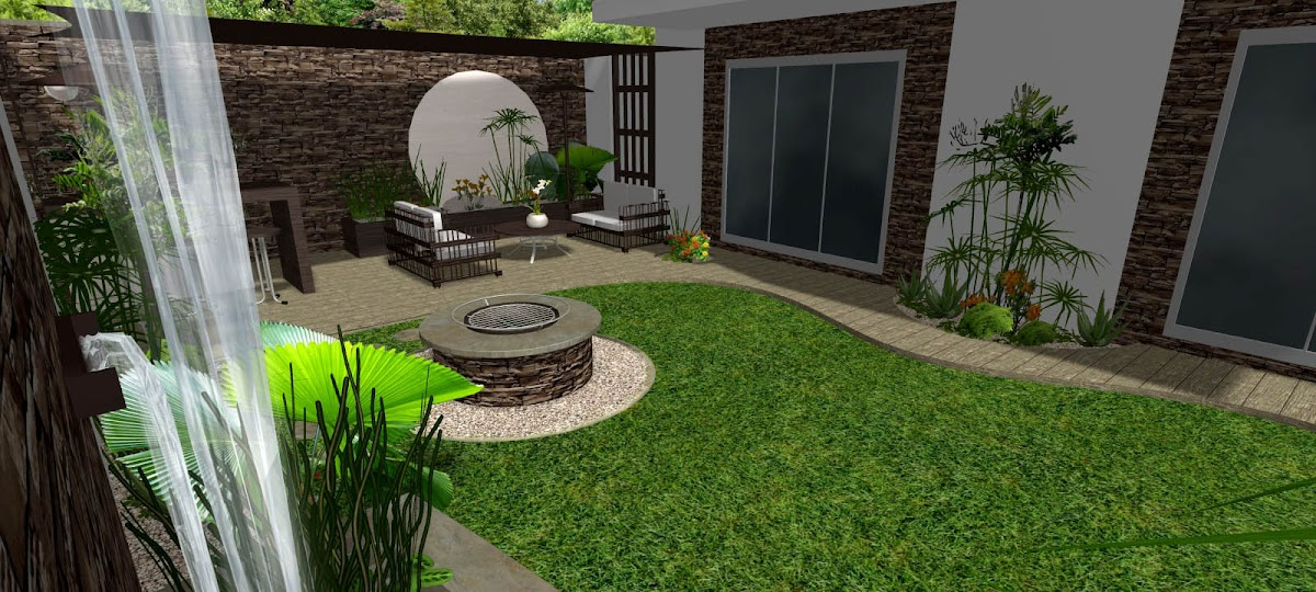 Dise os 3d imagenes renders de jardines virtuales y - Diseno jardines y exteriores 3d ...