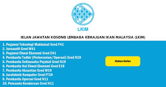 jawatan kosong lembaga kemajuan ikan malaysia 2020