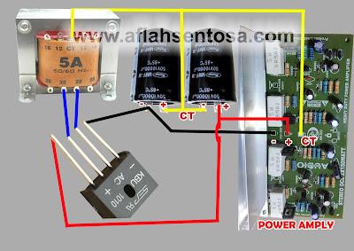 Cara Memasang Power Supply CT Pada Power Amplifier