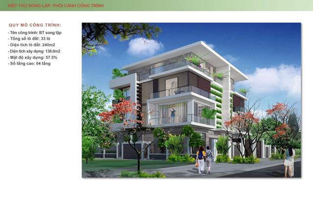 Mẫu thiết kế biệt thự song lập Mon Bay Hạ Long