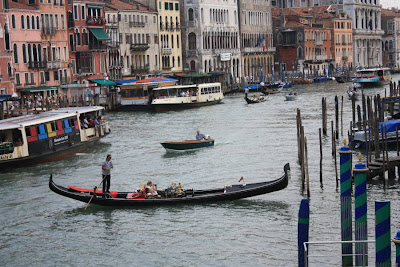 Gondola on the Grand Canal in Venezia