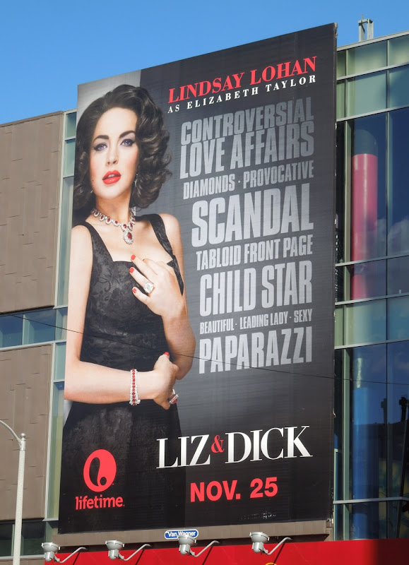 Liz Dick billboard Hollywood Boulevard