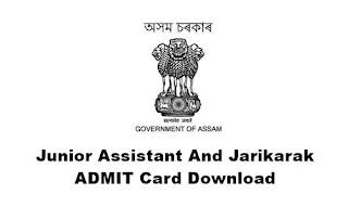 Junior Assistant And Jarikarak ADMIT Card Download