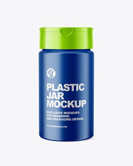 2 Unique Design Plastic Jar Mockup