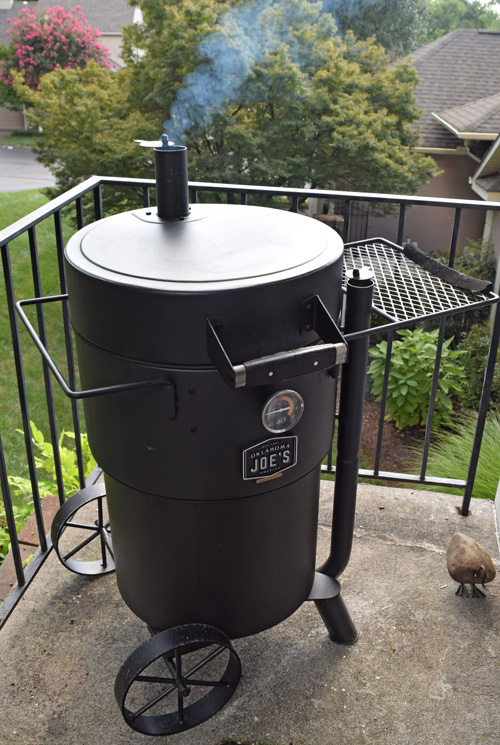 I used the Oklahoma Joe's Bronco drum smoker for it's flexible cooking set ups.