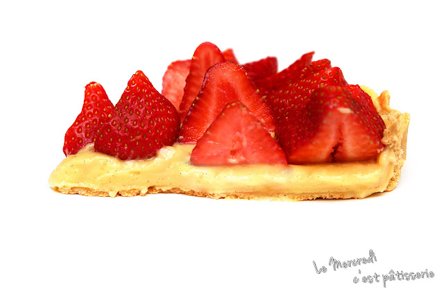 Tarte aux fraises et à la crème pâtissière