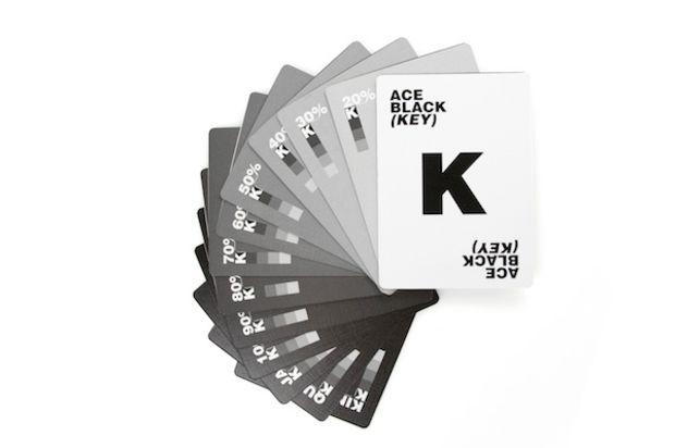 Maso de cartas CMYK perfecta para diseñadores
