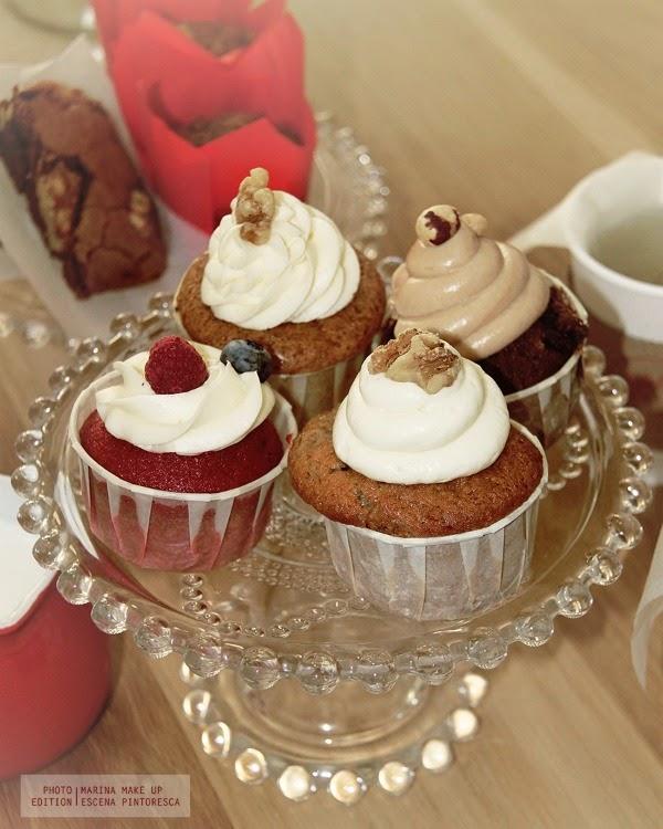 variedad de cupcakes de la pastelería sevillana