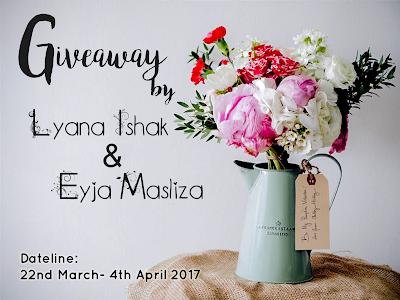 Giveaway by Lyana Ishak & Eyja Masliza, Segmen, Giveaway / contest yang aku join, good luck to me, cabutan bertuah, random, lucky nombor, blogger, Blog Miss Banu Story,