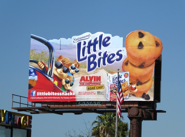 Entenmanns Little Bites Alvin Chipmunks billboard
