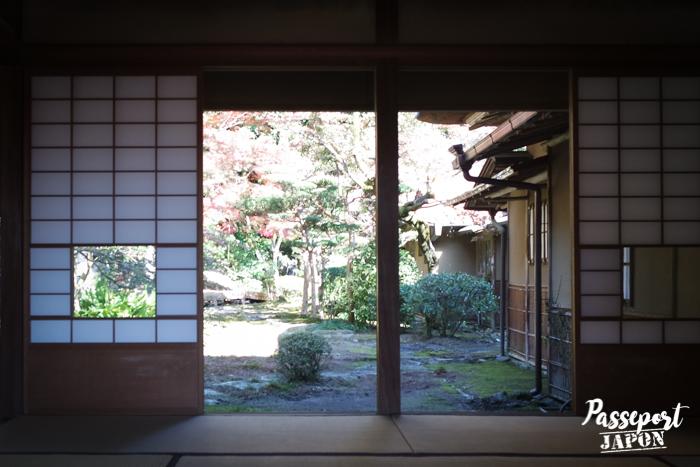 Intérieur du pavillon de thé de Kunenan, Kanzaki, Saga
