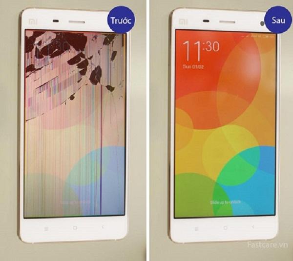 thay mat kinh Xiaomi Mi4 gia re