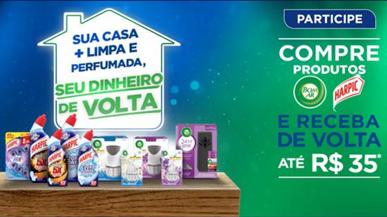 Promoção Sua casa mais limpa e perfumada e seu dinheiro de volta!