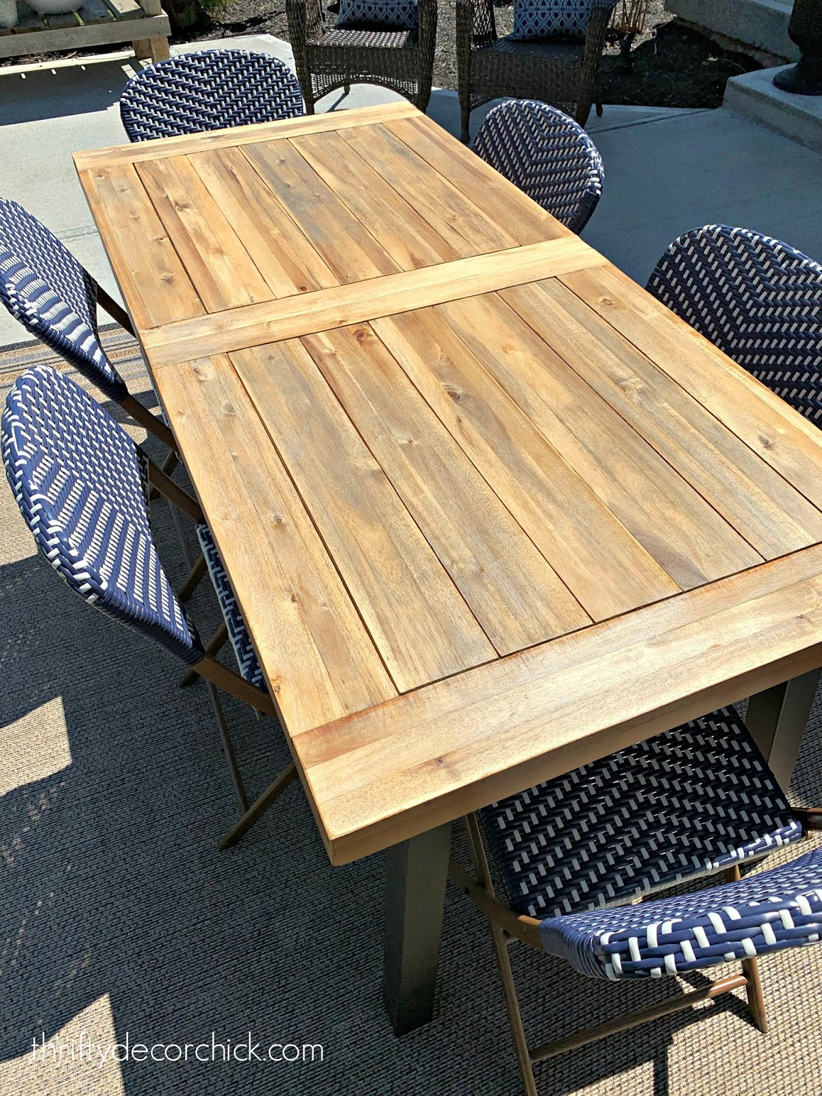 Refinish outdoor wood table