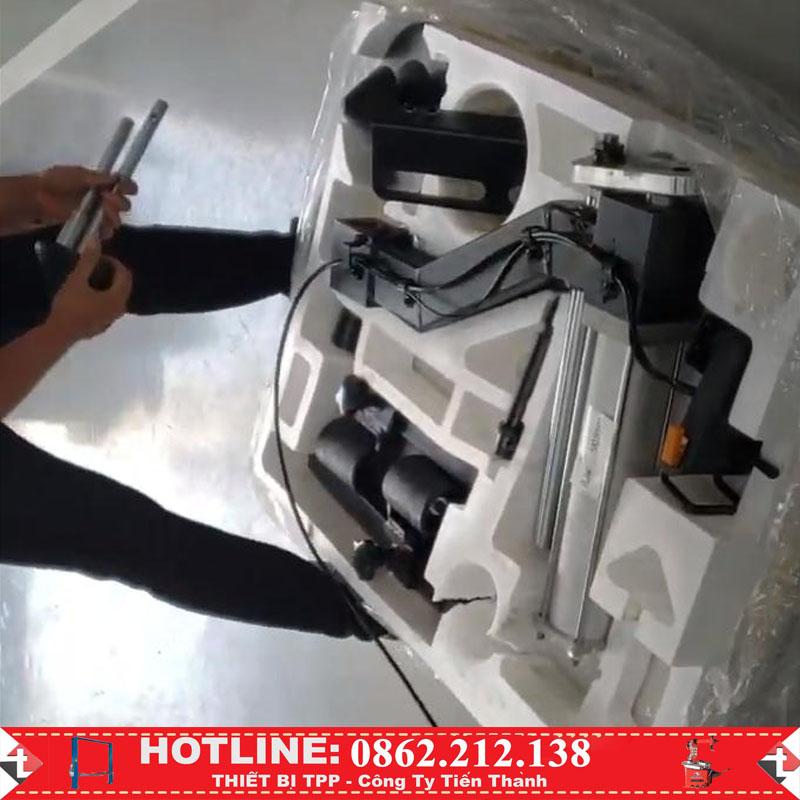 cần phụ hỗ trợ máy tháo vỏ, bộ hỗ trợ máy tháo vỏ xe máy, bộ tỳ đè hỗ trợ máy ra vào vỏ