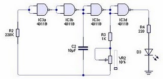 Pulse generator circuit with Logic Gate