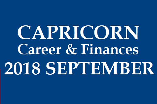 CAPRICORN - MAKARA RASI: Makara Rasi Palan 2018 September