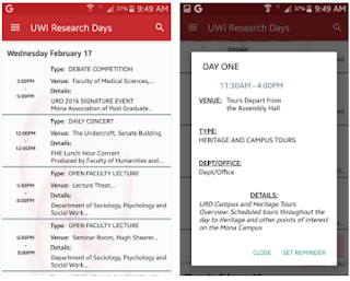 UWI Research Days App Screen Shot