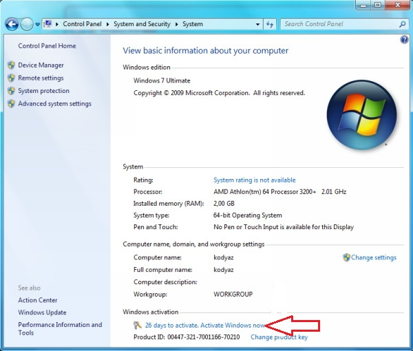 windows 7 32 bit product key