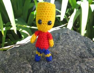 free Bart Simpson crochet pattern