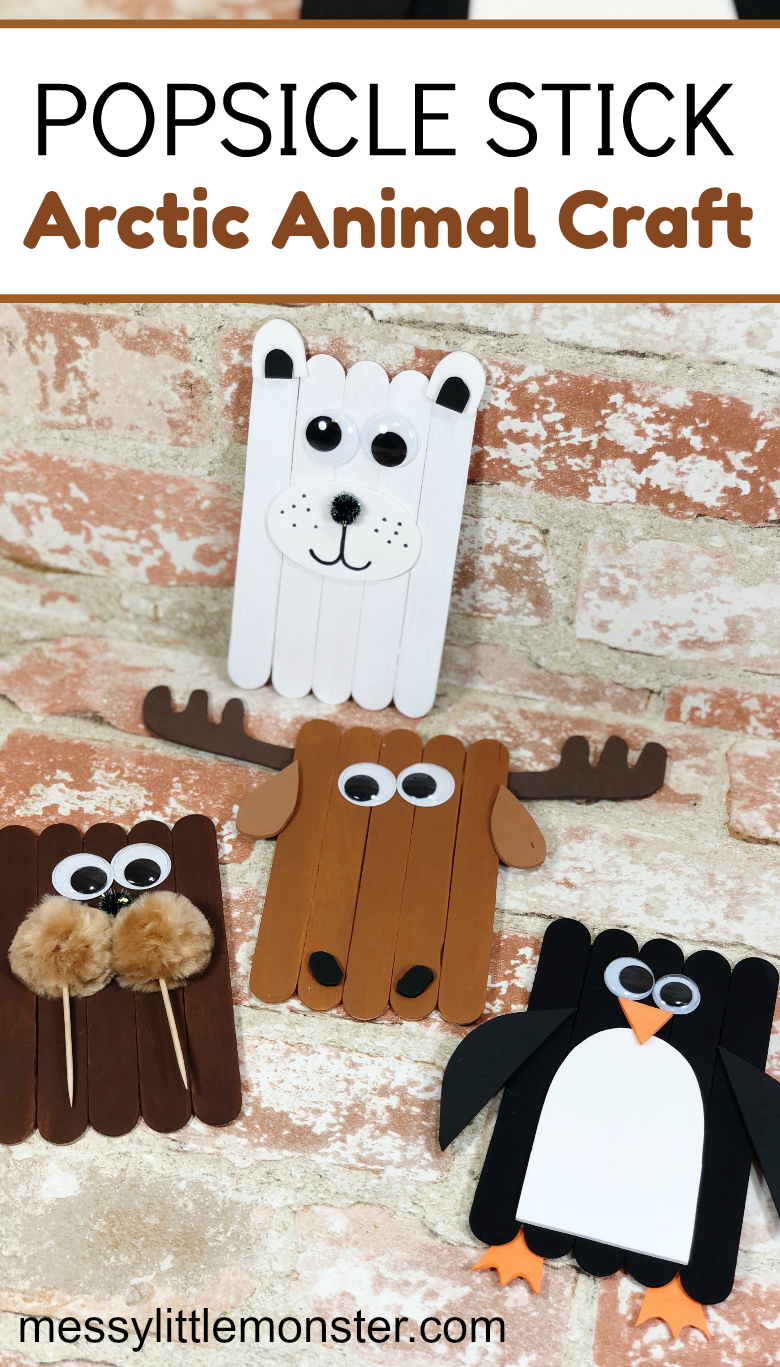 Arctic Animal Popsicle Stick Crafts