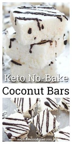 Sweet craving? These soft, chewy coconut bars are healthy dessert heaven. NO-BAKE and made with only 5 ingredients, you'll never guess these decadent-tasting candy bars are low carb, Keto and sugar free!