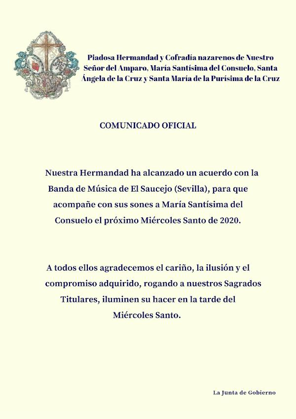 La Hermandad del Consuelo de Jerez de la Frontera contrata a la Banda de El Saucejo