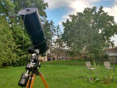 OTA setup in backyard but clouds...