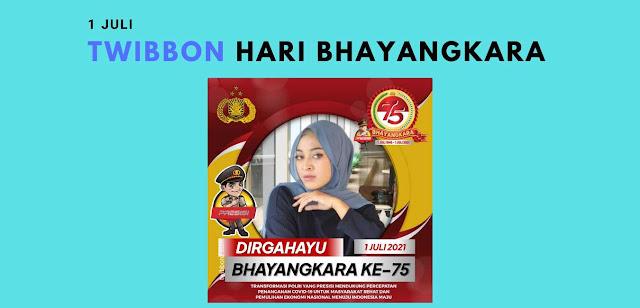 Gambar Twibbon Hari Bhayangkara 1 Juli