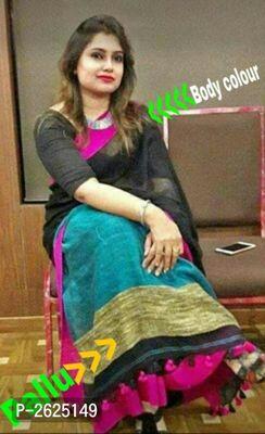 Elegant Soft Khadi Cotton Sarees with Blouse Piece  Rs:700/-