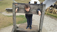 Dan Jon in the Stocks at Corfe Castle