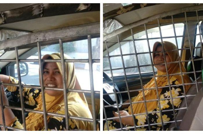Seorang Ibu Driver Taksi Online Pasang Teralis Di Mobilnya