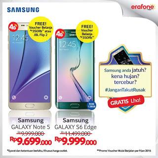 Samsung Galaxy Note 5 Bonus Voucher Belanja Rp 350.000 di Erafone