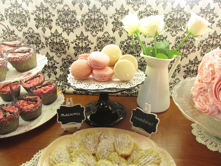 French party food at cafe de paris - macarons and madeleines