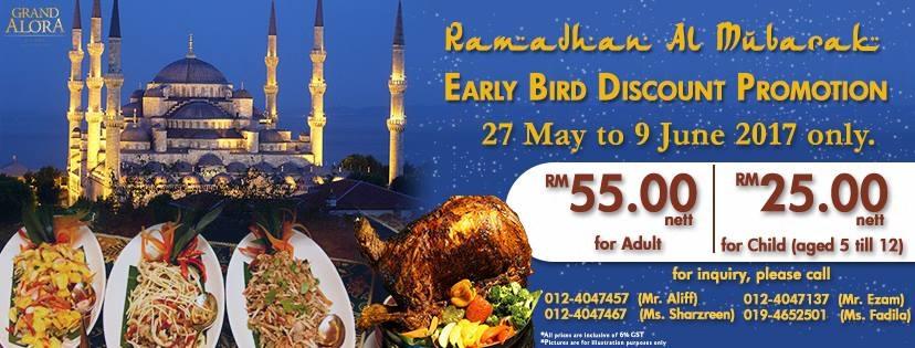 Buffet Ramadhan grand alora hotel Kedah