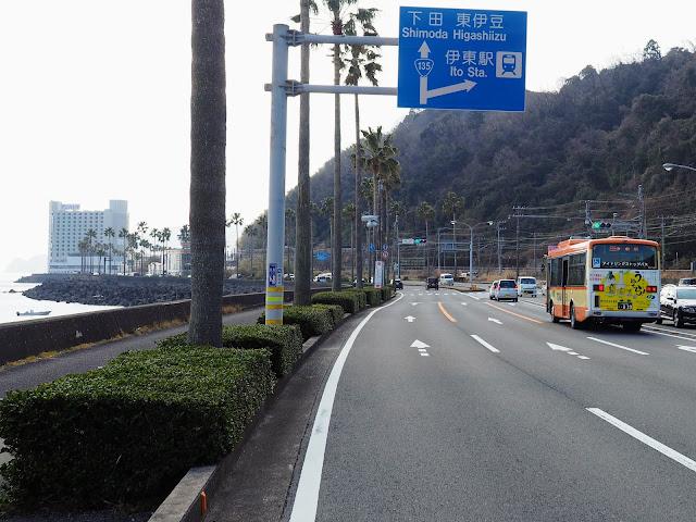 国道135号 宇佐美海岸