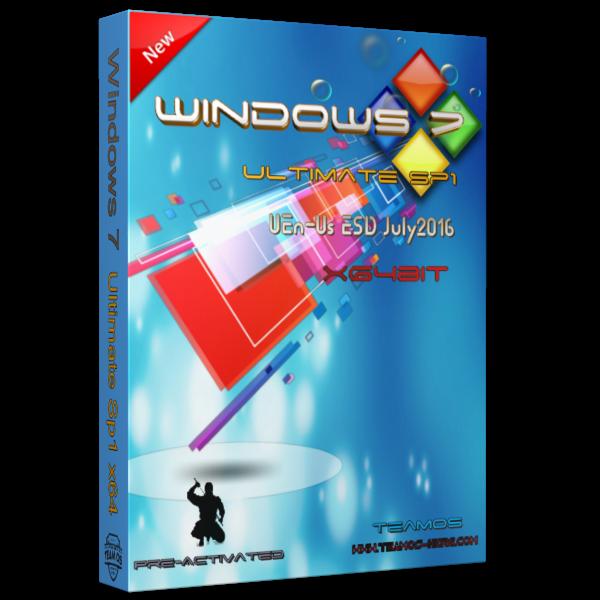 Windows 7 Ultimate SP1 x64 tháng 7/2016, đã active bản quyền