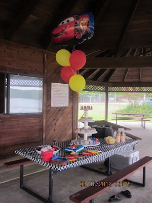 cars themed party, big brother party, CARS, Laras place and a cup of grace
