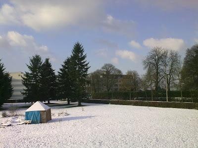 Janela de Beaulieu, Rennes, França - Janeiro - Inverno