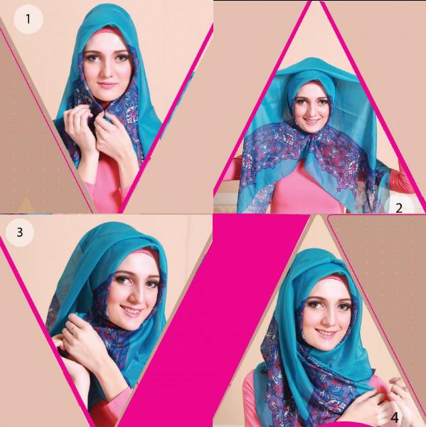 Trend hijab belakangan ini memang sedang menjamur Cara Memakai Jibab Azura Style Ala Ussy Sulistiowaty