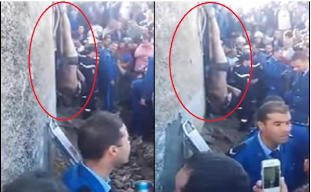 مقطع مروع لتعذيب سارق جزائري بتجريده من ملابسه وتعليقه بجدار! هذا الفيديو يحتوي على مشاهد لا تناسب البعض