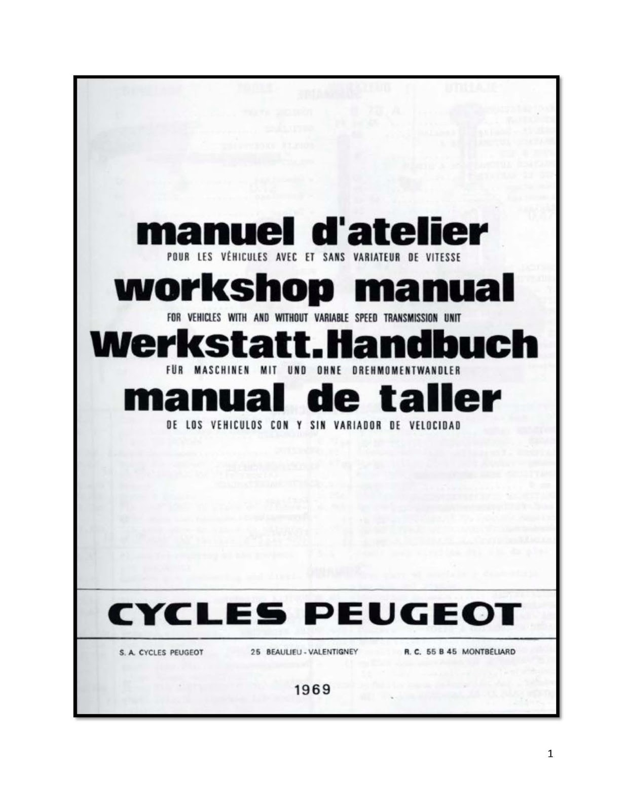 hight resolution of peugeot 103 service manual